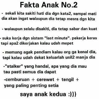 Fakta Anak No 2 1cak For Fun Only